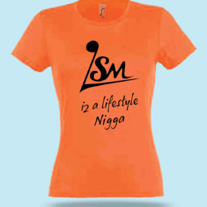 Tee-shirt Femme Lifestyle music Orange
